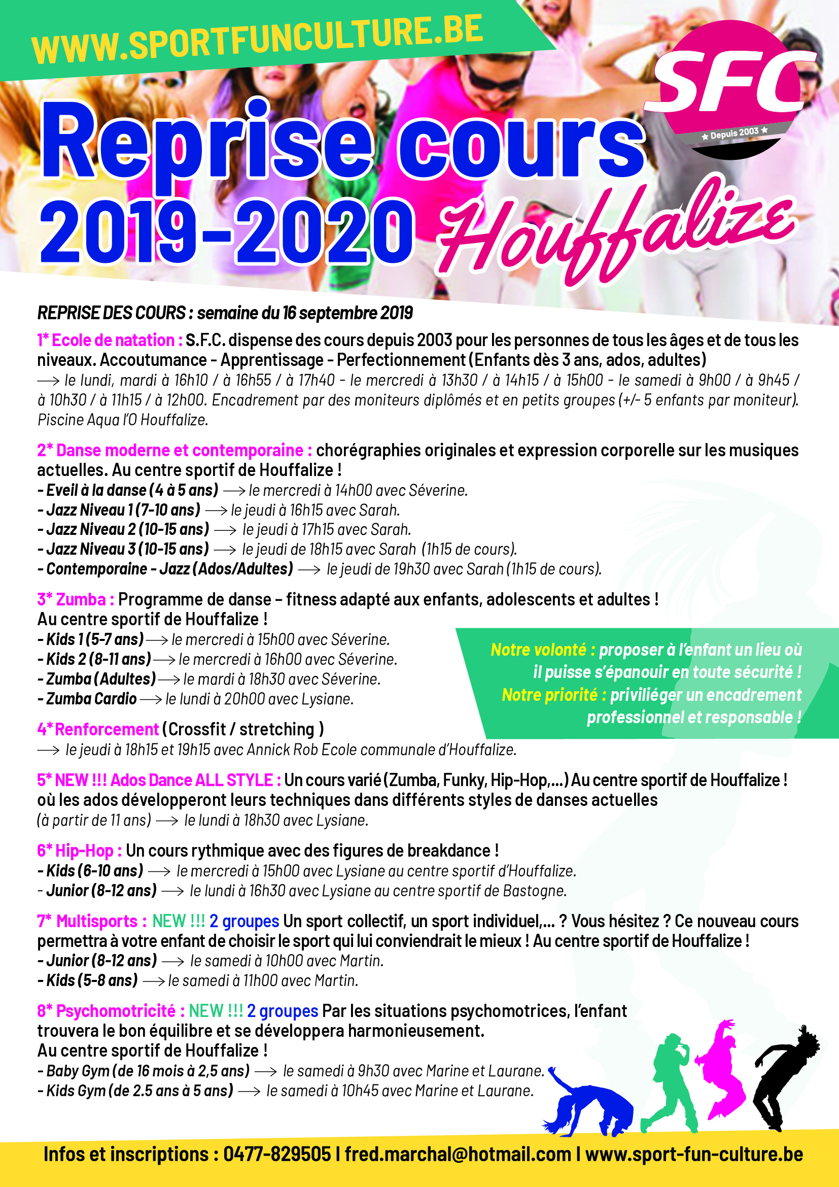 SFC Houffalize Horaire 2019-2020